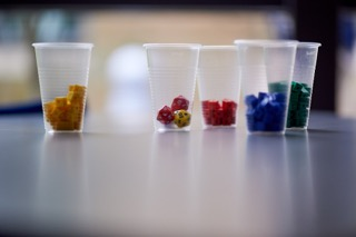 Maths materials - cubes in cups