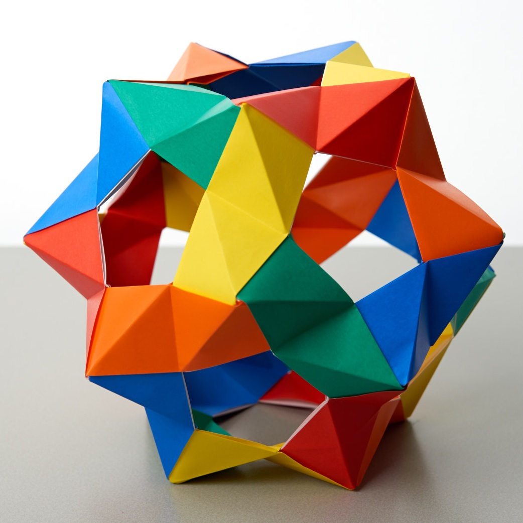 Paper folding - stellated dodecahedron